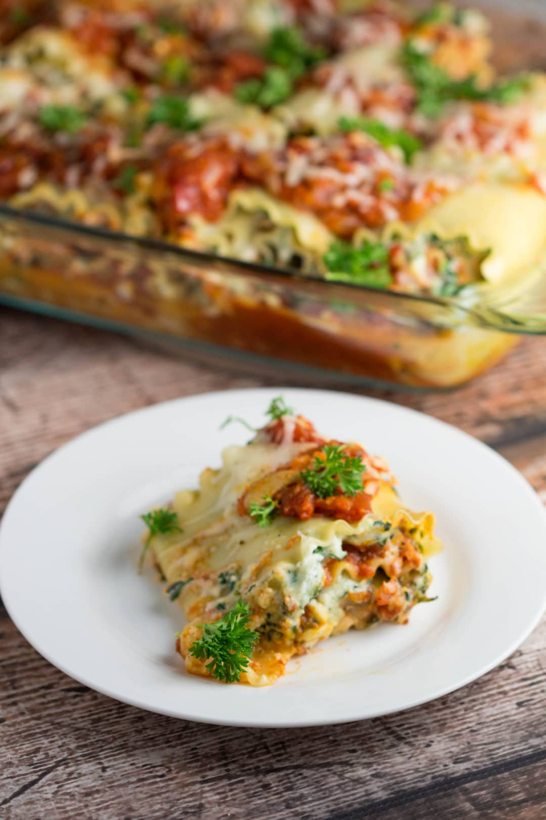 Veggie Lasagna Roll Ups...quick and satisfying meal! |Krollskorner.com