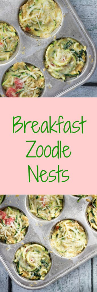 zoodle breakfast nests in a muffin tin