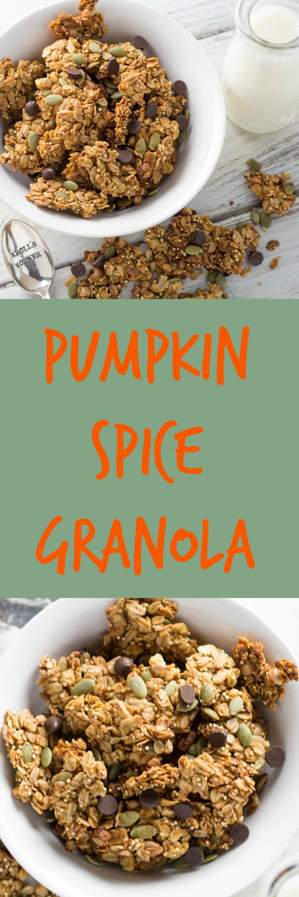 Pumpkin Season Is BACK! It is easy and fun to make homemade granola ...