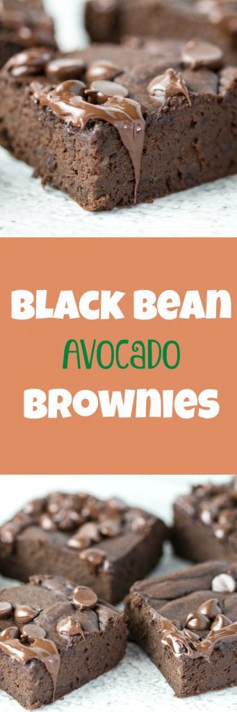Black bean avocado brownies! SAY WHAT? Black beans? Avocado? In a brownie? YUP! Happy Recipe Redux! Try these black bean brownies out today! ||krollskorner.com