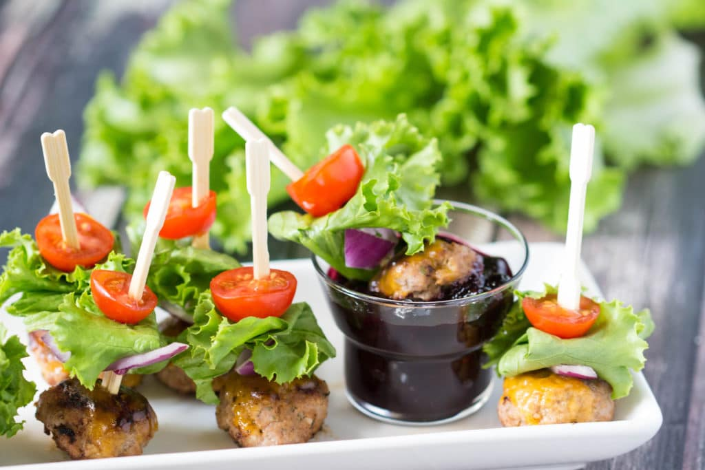 Bunless Burger Bites are a perfect carb free option for your Labor Day festivities!  krollskorner.com