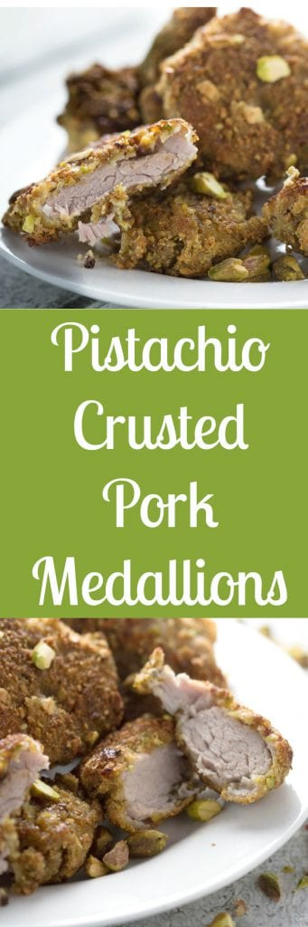 Pistachio Pork Medallions! Baked to perfection with a hint of citrus that will make your taste buds happy! Krollskorner.com
