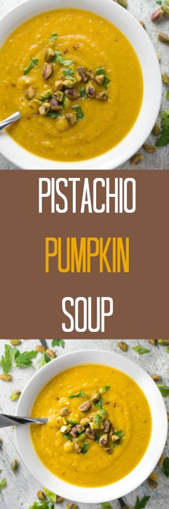Pistachio Pumpkin Soup - Perfect for Fall! Krollskorner.com