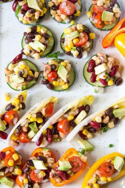 Vegetarian 3 Bean Dip is a MUST for your #LaborDay festivities! |Krollskorner.com