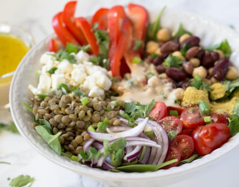 This plant protein bowl is loaded with protein, antioxidants and nutrients to fuel you up all day!