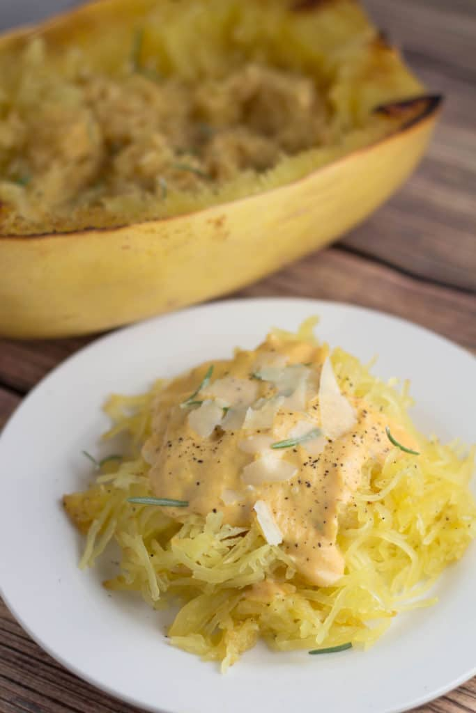 Nothing screams Fall more than this Pumpkin Alfredo Sauce! Perfect on Spaghetti Squash or regular pasta - you will not be disappointed! Krollskorner.com