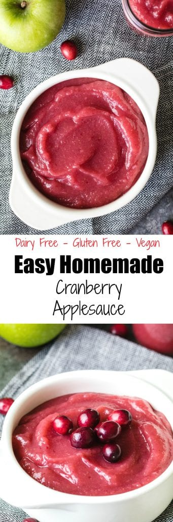 Easy Homemade Cranberry Applesauce - krollskorner.com