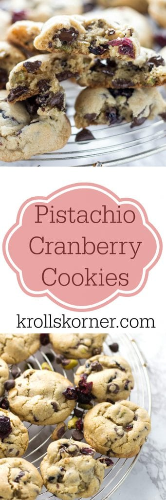 Need a Thanksgiving cookie for your holiday gathering? I think you've found a winner with these pistachio cranberry cookies! |krollskorner.com