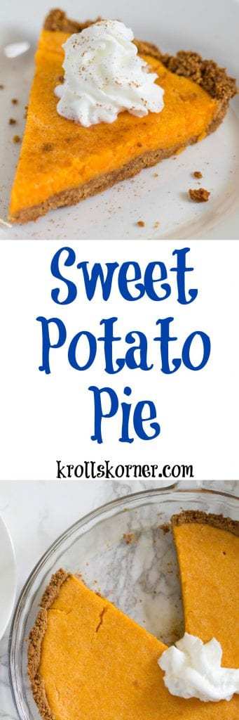 Sweet potato pie might have to be the new pumpkin pie in my house! Try out my sweet potato pie for a healthy Thanksgiving dessert this year! Krollskorner.com