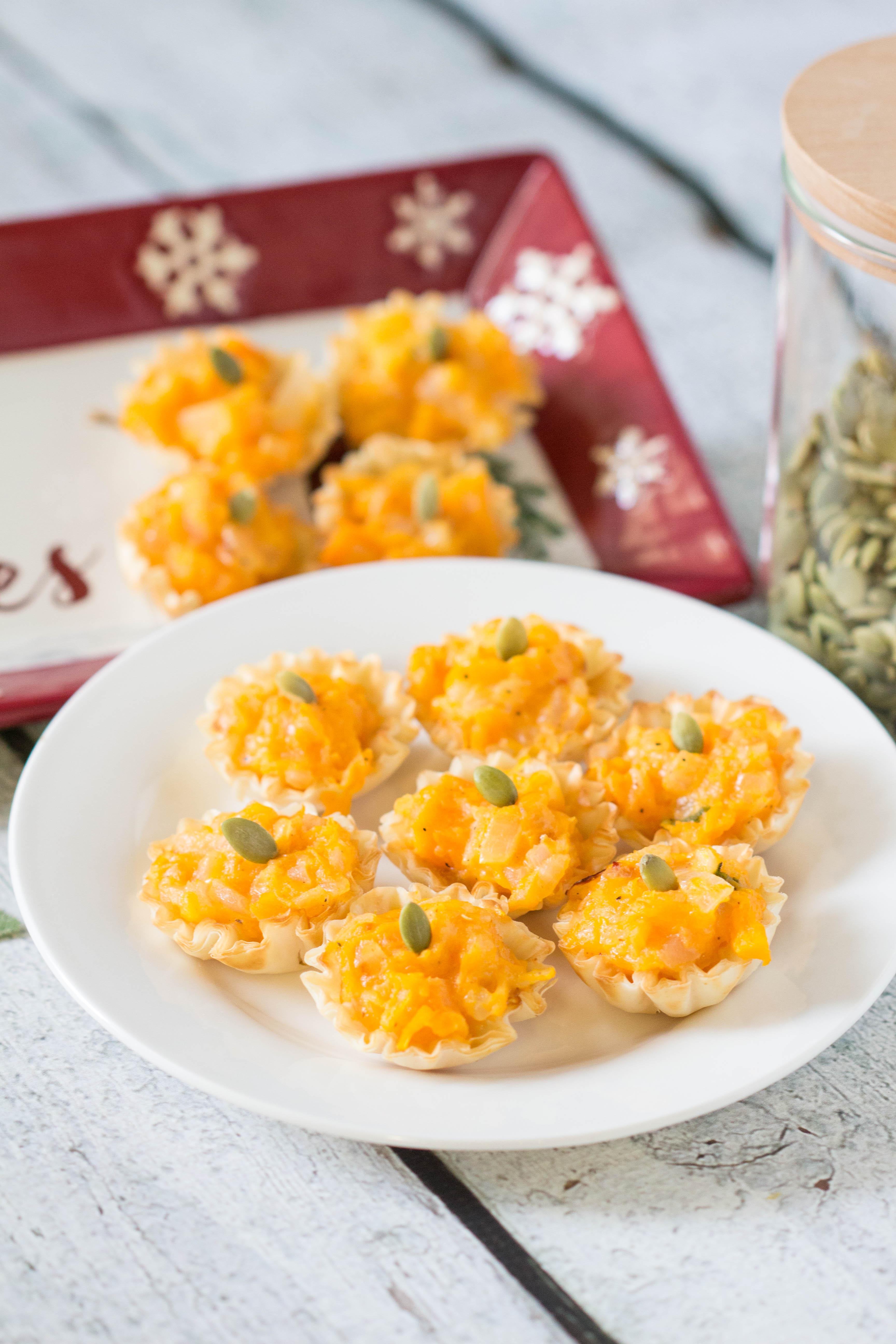 30 Minute Butternut Squash Bites - perfect appetizer, easy & tasty! |Krollskorner.com