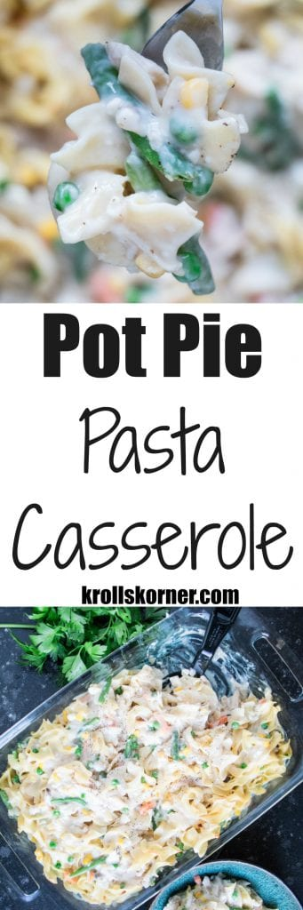 We've all had a pot pie before, but have you had a Pot Pie Pasta Casserole?! I am all about remaking standard recipes and putting my healthy twist on them!
