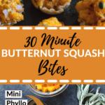 butternut squash in a mini phyllo shell