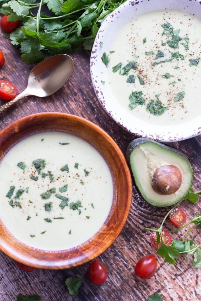 Avocados make wonderful soup, who knew?! This refreshing and delicious soup recipe tastes just as good chilled as it does hot! |Krollskorner.com