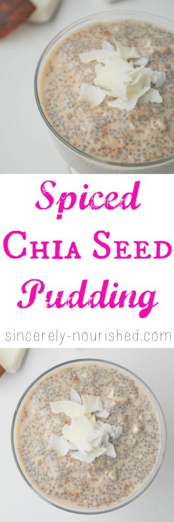 Spiced Chia Seed Pudding - creative, easy & healthy morning meal!