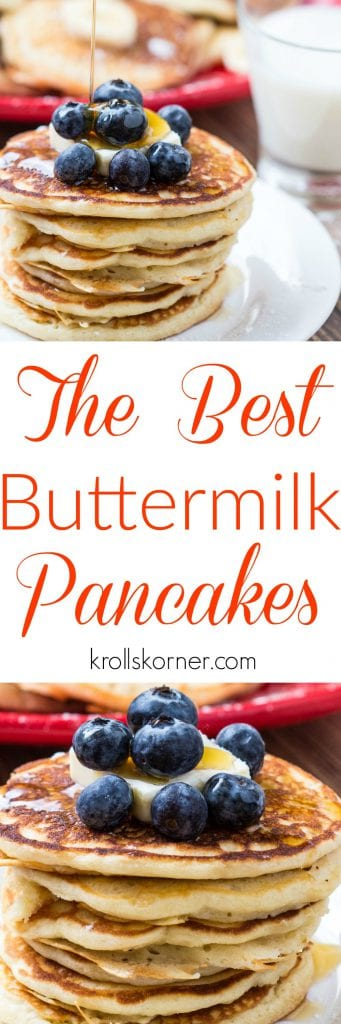 The Best Buttermilk Pancakes | Krollskorner.com