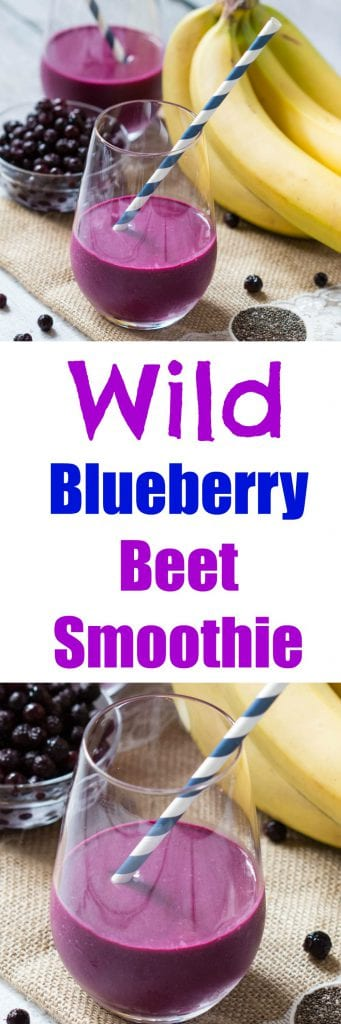 Wild Blueberry Beet Smoothie is full of antioxidants and is nutrient rich! #AD #WildYourSmoothie