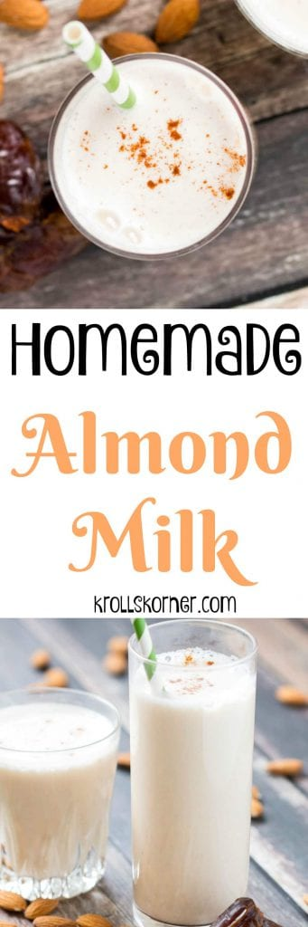 Homemade Almond Milk is fun and nutritious and knocks the store bought milk off the shelves! |Krollskorner.com