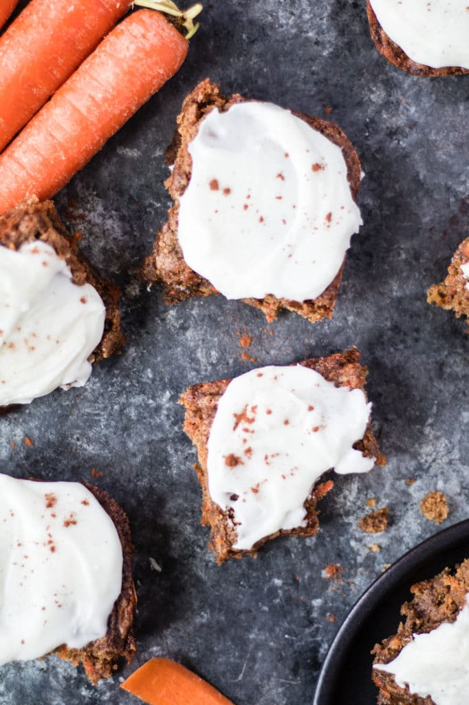 Nut-Free Carrot Cake Bars - delicious and tasty treat full of flavor! |Krollskorner.com