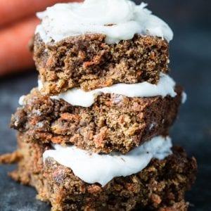 Nut-Free Carrot Cake Bars - delicious and tasty treat full of flavor! |Krollskorner.com