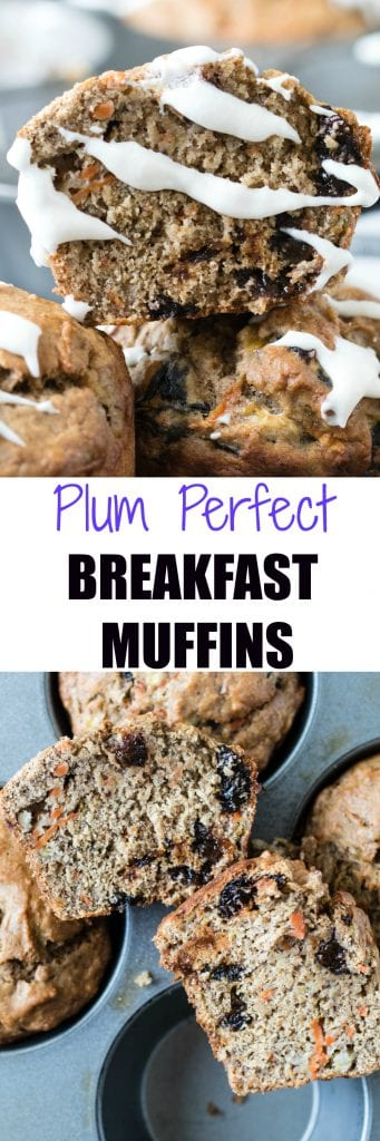 Plum Perfect Breakfast Muffins || Krollskorner.com