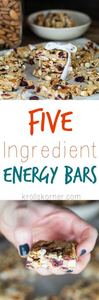 5 Ingredient Energy Bars |Krollskorner.com