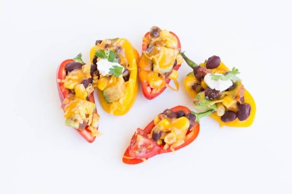 Spicy Mini Bell Pepper Nachos - Krollskorner.com