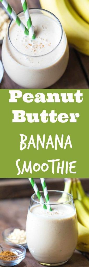 PB Banana Smoothie - SO good! |Krollskorner.com