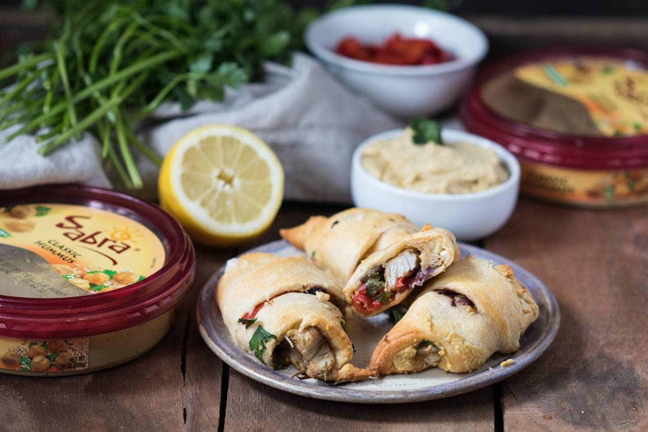Crescent Wrapped Mediterranean Chicken With Hummus Kroll S Korner