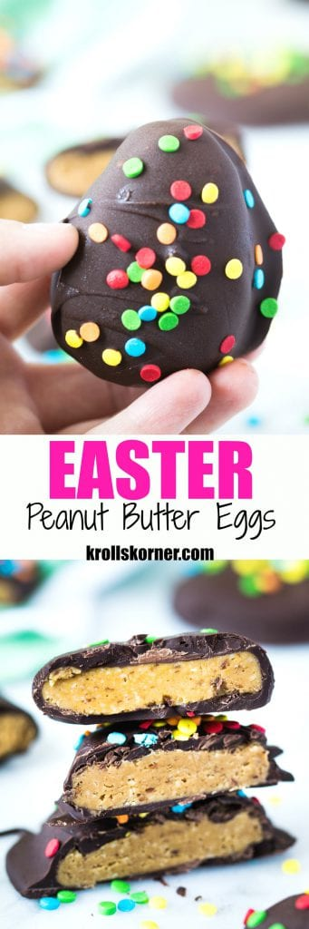 Chocolate Lovers Peanut Butter Bites Easter Edition!! #krollskorner #chocolate #passover #easter