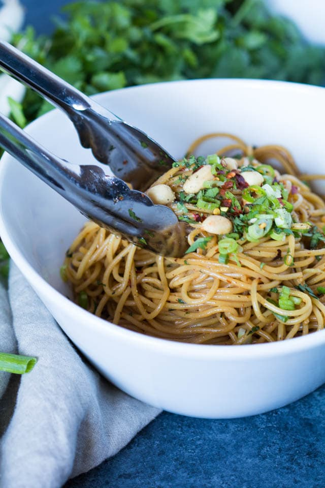 Kung Pao Pasta AKA the best pasta EVER! If you like spicy, this Kung Pao Pasta is for you!  Krollskorner.com