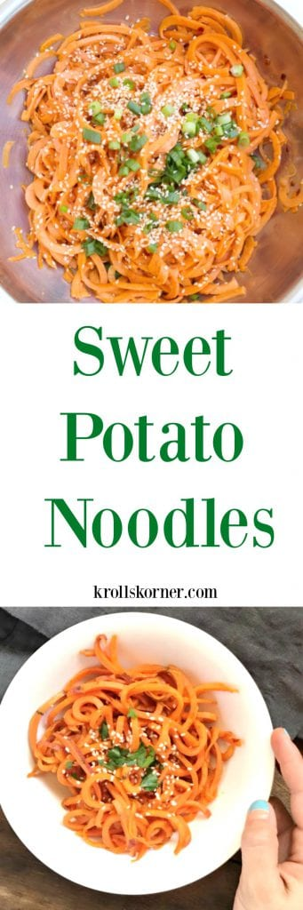 """""""Swoodles"""" = sweet potato noodles! Have you tried them out yet? krollskorner.com"""