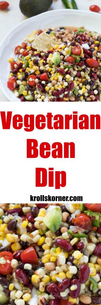 Vegetarian Bean Dip - easy and tasty! krollskorner.com