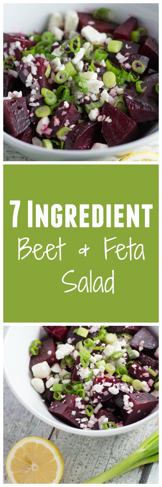EASY 7 Ingredient Roasted Beet and Feta Salad! Krollskorner.com