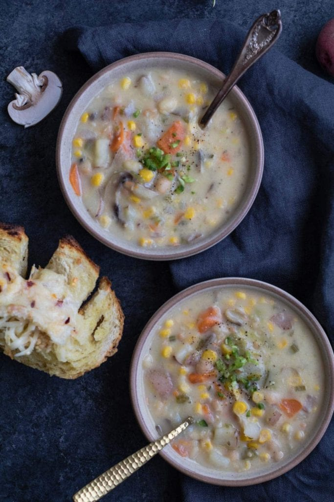 Instant Pot Corn and Potato Show - 30 minute gluten free soup! krollskorner.com