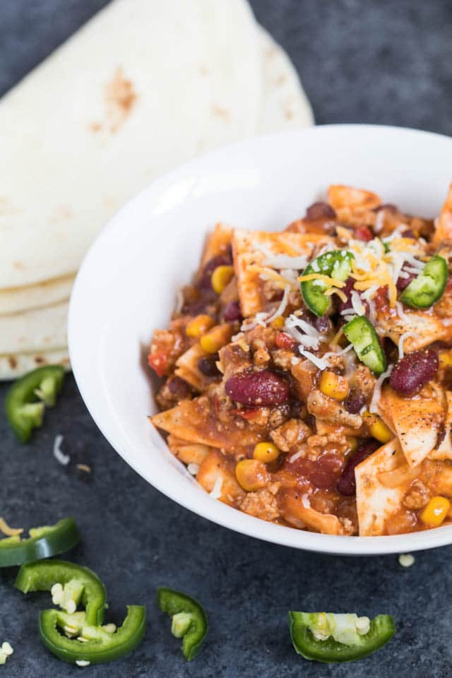 Mom's Easy Taco Skillet - perfect weeknight meal, easy and tasty! Krollskorner.com