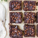 black bean brownies on parchment paper