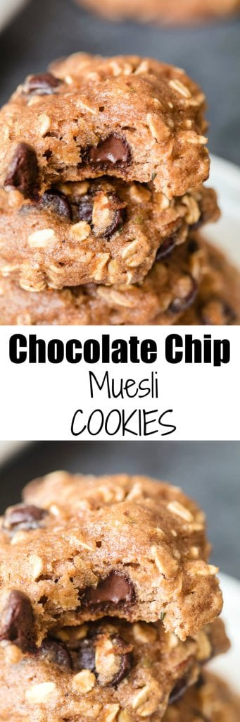 Chocolate Chip Muesli Cookies - for breakfast or for dessert, it's up to you!