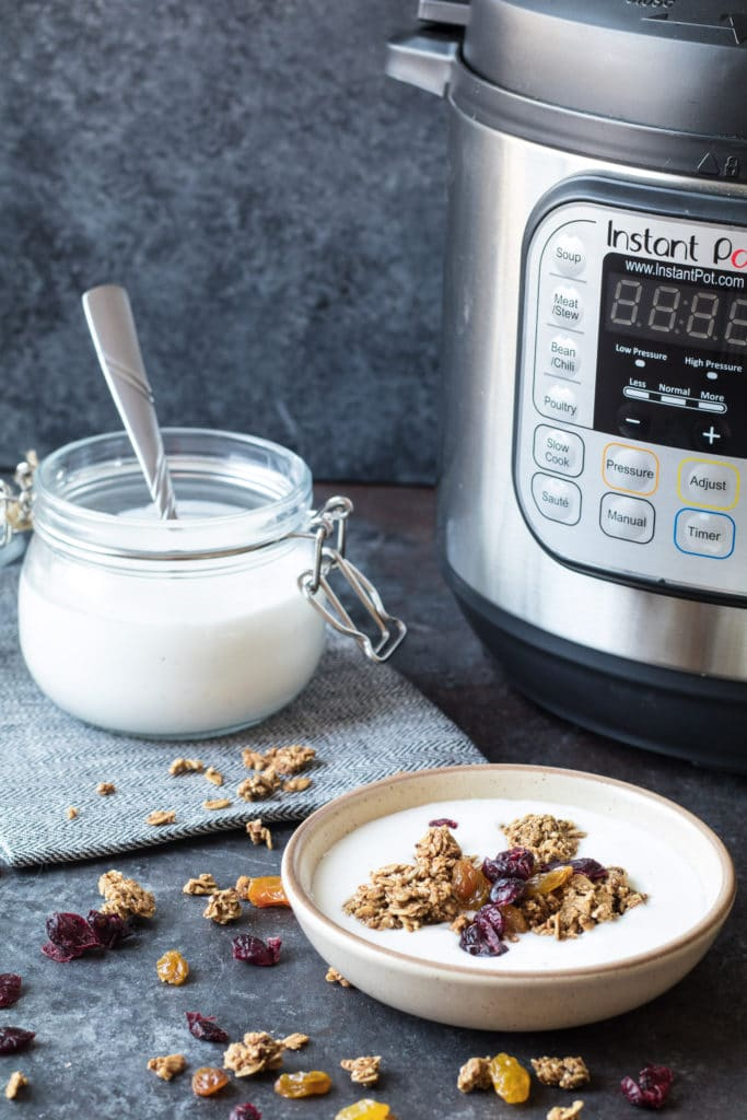 Homemade Vanilla Bean Yogurt using the Instant Pot? Yup, making yogurt from scratch has never been easier. krollskorner.com