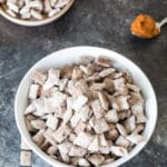 Take the traditional Puppy Chow and Fall it up a bit with this PUMPKIN Puppy Chow! krollskorner.com""
