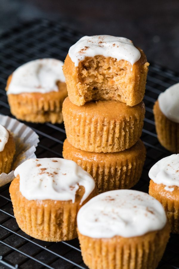 Leftover Sweet Potato Pie Muffins on wire rack