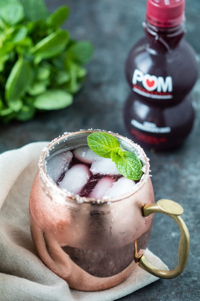 Brunch Pomegranate Moscow Mule - have a little fun with a boost of antioxidants as well! krollskorner.com
