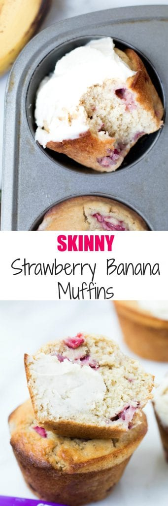 #Sponsored| Fall in love...eeeeek I mean Swerve into love with these Skinny Strawberry Banana Morning Muffins! #ad #TheRecipeRedux