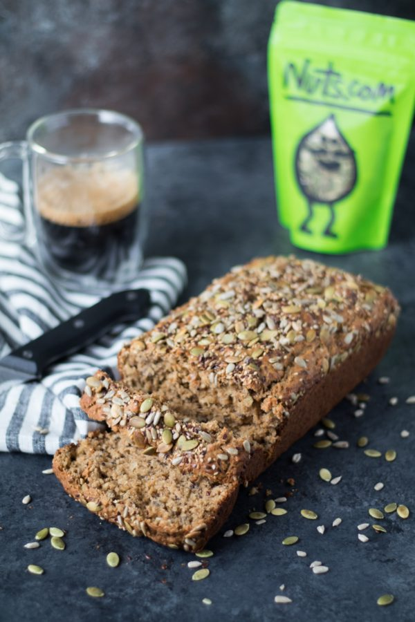Have you made a Sprouted Seed Bread before?! If not this is an easy recipe to start with. It has the perfect crunch and hint of sweetness that will leave your mouth watering & begging for another slice! #ad #krollskorner
