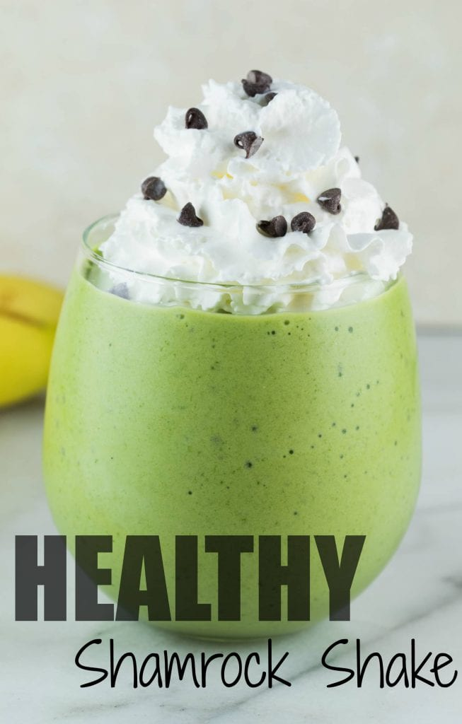Healthy Shamrock Shake to celebrate St. Patty's Day! #shamrock #krollskorner