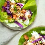 Asian Style Butter Lettuce Wraps are a great low carb weeknight dinner and full of flavor! Less than an hour to make too! Krollskorner.com
