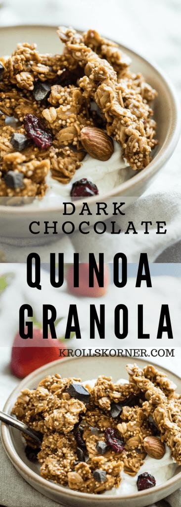 Dark Chocolate Quinoa Granola - krollskorner.com