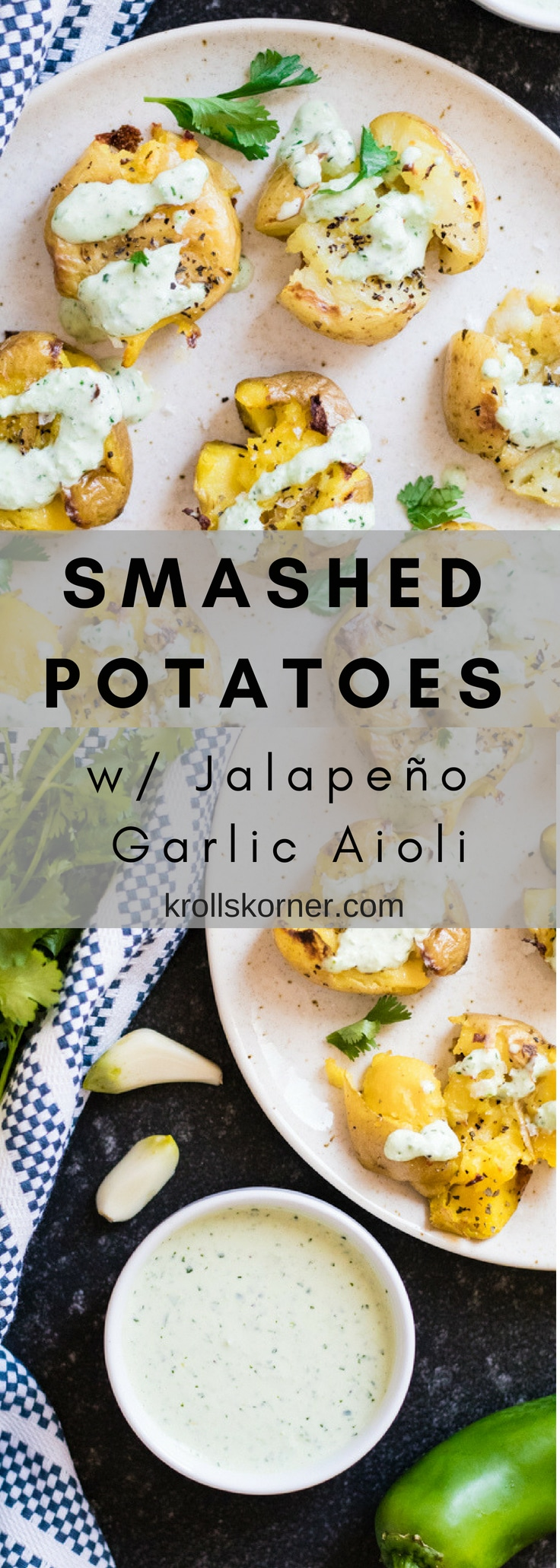 These smashed potatoes are easy, delicious and only take 35 minutes to make! #Krollskorner #potatoes #sidedish #easy #healthy