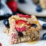 Simple Berry Oatmeal Bake - perfect for back to school breakfast! #krollskorner #breakfast #oatmeal #easy #yum