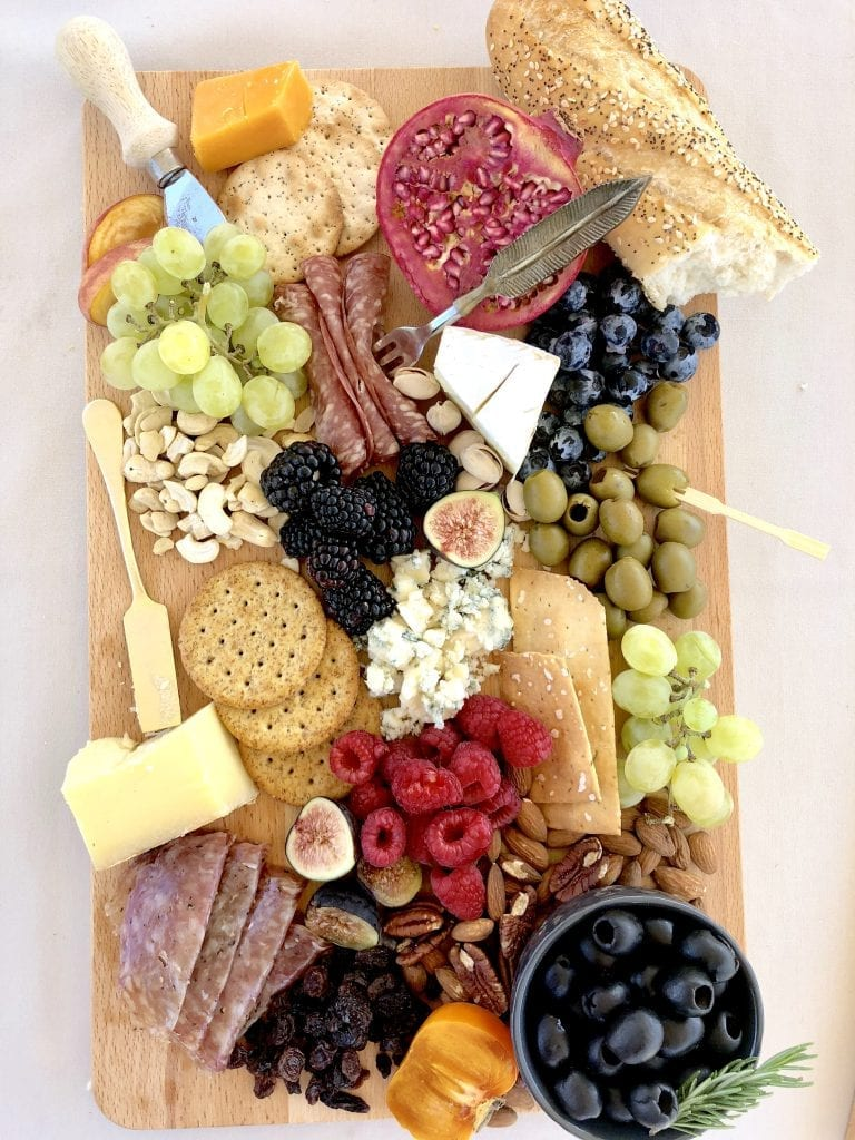 Cheeses on a board