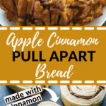 Apple Cinnamon Rum bread on a white plate